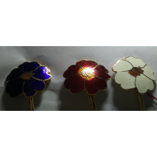 Vintage Cloisonne Bookmark Multi Color Flower NWT