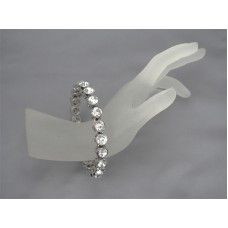 Genuine Chico's Bracelet set in Silver with Clear White Stones
