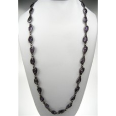 Chico's Crystal Stone Amethyst and Gun Metal