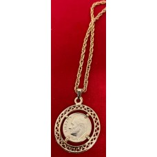 Roosevelt Dime coin necklace