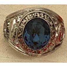 Law Enforcement Ring Blue CZ Stone