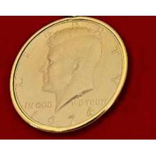 Kennedy half dollar coin brooch