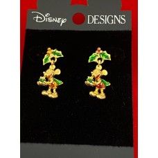 Disney earrings Mickey Mouse Christmas / Xmas on Disney card, more in store.