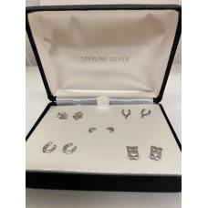 Sterling Silver 925 Earrings in Gift Box 5 pair
