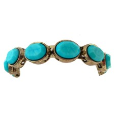 Genuine Chico's Bracelet Stunning Turquoise Antique Gold