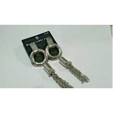 Chico's Black Label Clip Tassel Silver plated Earrings