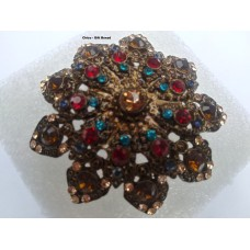 Chico Brooch Multi Color Stones gift boxed NWT