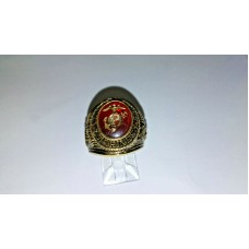 Marine Ring with Red Enamel and Gold Military insignia