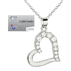 White Gold Open heart necklace