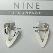 Nine West & Company Earrings Silver Huggie Hoop