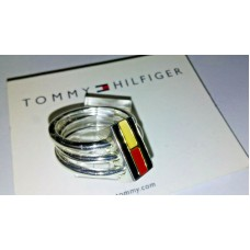 Tommy Hilfiger Silver plated stack ring Size 6