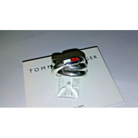 Tommy Hilfiger Silver plated Swirl Ring Size 7