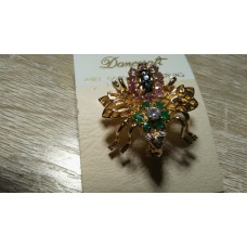 Semi Precious and Precious Stone Bee Pin