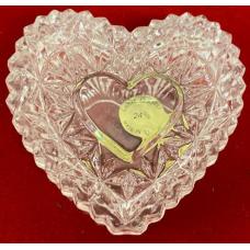 Crystal  Heart Shaped Box 24% lead crystal