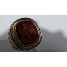 Mason Ring Red Enamel