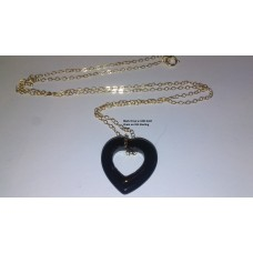 Genuine Black Onyx Heart Pendant