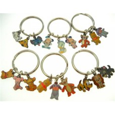 Disney Characters Authentic Disney Characters Key Rings, as shown,keychain, key chain  4 pc