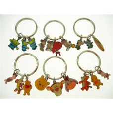 Disney Characters Authentic Disney Characters Key Rings 4 pc