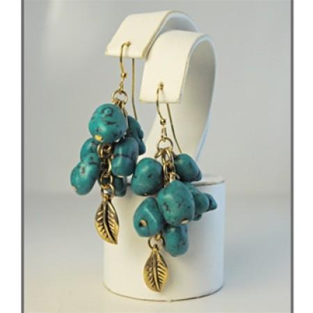 Genuine Turquoise Large Nuggets Bracelet
