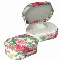 Fabric Covered Jewelry Box in Pastel Flowers