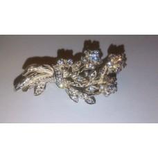 Flower Bouquet in 925 Sterling Silver Brooche