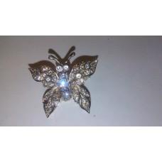 Butterfly in 925 Sterling Silver Brooch