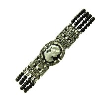 Cameo Cubic Zirconia Sterling Silver Bracelet