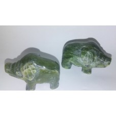 Hand Craved Jade Pig Figurine