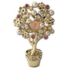 Flower Tree Pin in its own container is Austrian Crystals and Pearls