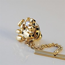 Mens Nugget and CZ Tie Tack