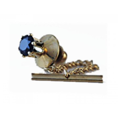 Sapphire Blue Spinel Tie Tacks