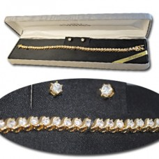 Cubic Zirconia Set Heavy Yellow Gold plate