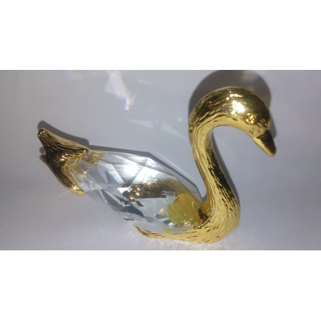 Swan figurine is an exquisite Crystal Zoo handmade Bohemian lead crystal