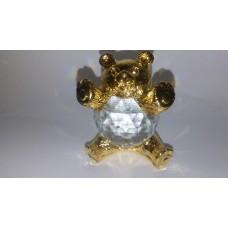 Teddy Bear figurine is an exquisite Crystal Zoo handmade Bohemian lead crystal