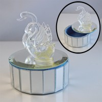 Swan Trinket Box Glass mirror