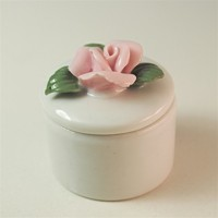 Porcelain Flower Trinket Box Porcelain