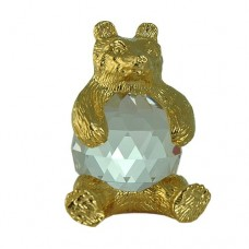 Bear figurine in exquisite Crystal Zoo handmade Bohemian lead crystal