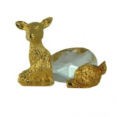 Deer figurine is an exquisite Crystal Zoo handmade Bohemian lead crystal