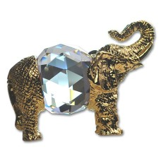 Elephant figurine is an exquisite Crystal Zoo handmade Bohemian lead crystal