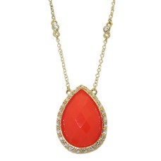 MX Signature Collection Wholesale Necklace Coral and Gold