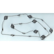 MX Signature Collection white gunmetal necklace