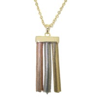 MX Tri Color Necklace Rose, White And Yellow Gold