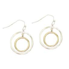 MX Wholesale Two Tone Earrings