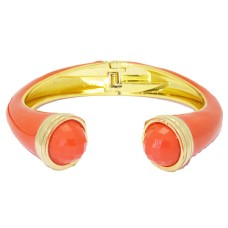 MX Signature Collection Bangle Bracelet set with Orange Stones