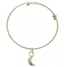 Expandble Bracelet in Sterling Plate & Sterling Charm Moon