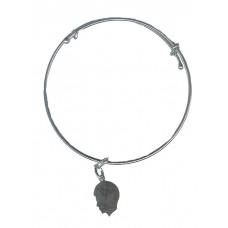 Expandble Bracelet in Sterling Plate & Sterling Charm Boys Head