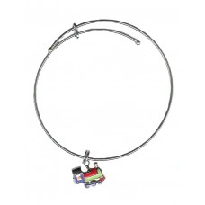Expandble Bracelet in Sterling Plate And Sterling Charm Train