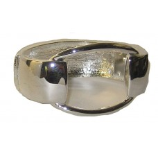 Large Open Top Silver Bangle
