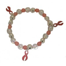 Breast Cancer Awareness Charm Bracelet wholesale