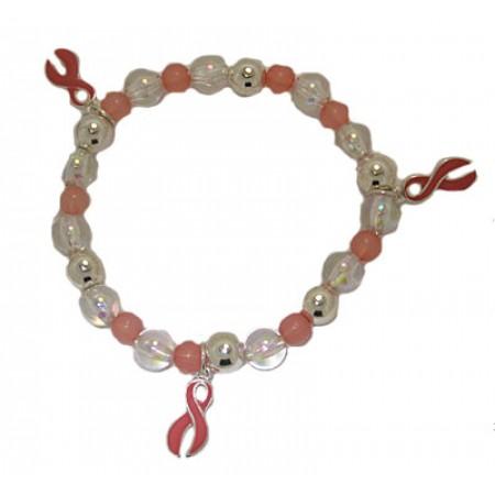 Breast Cancer Awareness Charm Bracelet wholesale